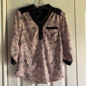 3/4 sleeve floral shirt